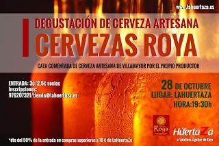 Degustación de cerveza artesana en LA HUERTAZA (miércoles, 28)