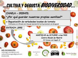 PASTRIZ. Charla y degustación de tomate (martes, 20)