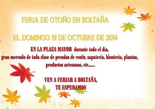 BOLTAÑA. Feria de otoño (domingo, 18)