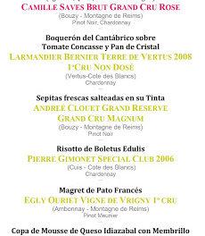 Cata cena maridada en Los Cabezudos con champagnes de vignerons Pommery (jueves, 8)