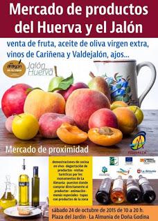 LA ALMUNIA DE DOÑA GODINA. Mercado de productos de Cariñena y Valdejalon (sábado, 24)