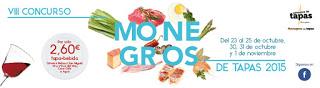 MONEGROS. Concurso de tapas (del 23 al 25 y del 30 al 1 de noviembre)