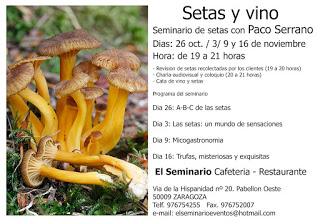 Seminario micológico (lunes, 26 de octubre; 2, 9 y 16 de noviembre)