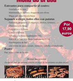 Nuevo menú de brasa en El Candelas