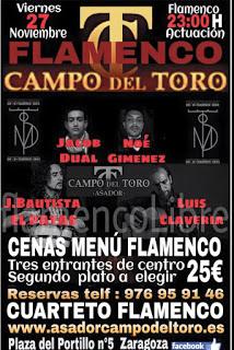Cena menú flamenco (viernes, 27)