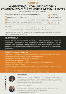 Curso de Marketing, comunicación y comercialización de hoteles-restaurantes (del 16 al 24))