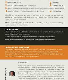 Curso de Nuevas técnicas de pastelería (del 11 de noviembre al 1 de diciembre)
