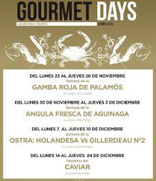 Gourmets Days en LOS CABEZUDOS y TRAGANTÚA, gamba roja de Palamós (del lunes, 23, al jueves, 26)