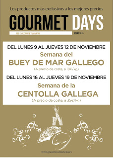 Gourmets Days en LOS CABEZUDOS y TRAGANTÚA, buey de mar (del lunes, 9, al jueves, 12)