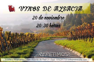 Nueva cata de vinos de Alsacia (viernes, 20)