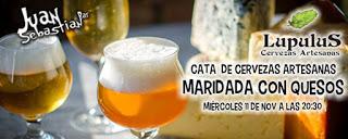 Maridaje cervezas artesanas y quesos en Juan Sebastián Bar (miércoles, 11)
