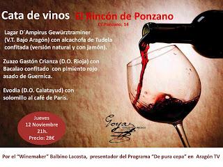 Cata de vinos (jueves, 12)
