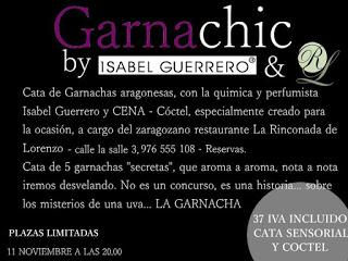 Cena y cata de garnachas en LA RINCONADA DE LORENZO (miércoles, 11)