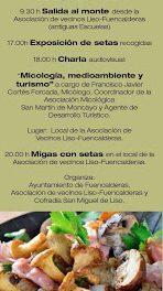 FUENCALDERAS. Jornadas micológicas (sábado, 14)