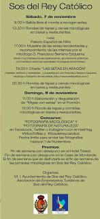 SOS DEL REY CATÓLICO. Jornadas micológicas (días 7 y 8)
