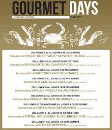 Gourmets Days en LOS CABEZUDOS y TRAGANTÚA, centolla gallega (del lunes, 16, al jueves, 19)