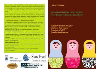 Encuentro sobre desarrollo rural sostenible (miércoles, 18)