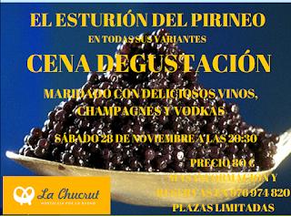Cena degustación El esturión del Pirineo (sábado, 28)