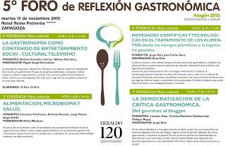 Foro de reflexión gastronómica (martes, 10)