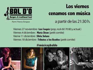 Cena y música (viernes, 11)