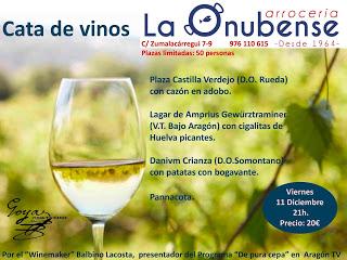 Cata de vino y tapas (viernes, 11)