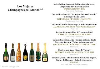 Cata cena maridada en Los Cabezudos Los mejores champagnes del mundo 5.0 (jueves, 17)