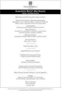 Bufet de Año nuevo en REINA PETRONILA (viernes, 1)