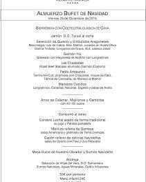 Bufet de Navidad en REINA PETRONILA (viernes, 25)