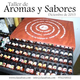Taller de aromas y sabores en AZAFRÁN (lunes, 4 de enero)