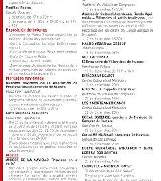 HUESCA. Feria navideña (del 22 de diciembre al 5 de enero)