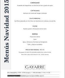 Menús de Navidad en Gayarre (hasta el 10 de enero)