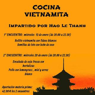 Encuentros gastronómicos. Cocina vietnamita (13 y 20 de enero)
