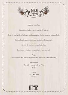 Jornadas de cocina de la trufa en EL FORO (enero)