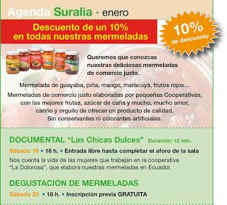 Degustación de mermeladas de comercio justo (sábado, 23)