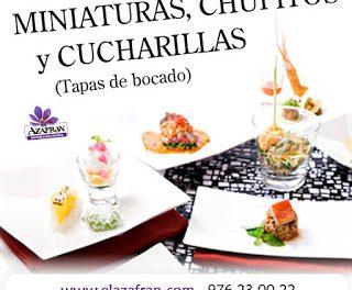 Curso de Miniaturas, chupitos y cucharillas en AZAFRÁN (de martes a jueves, 23 al 25 de febrero)