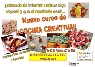Curso de cocina creativa para jóvenes (miércoles, del 17 de febrero al 27 de abril)