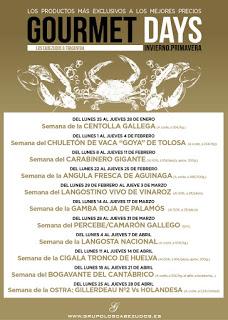 Gourmets Days en LOS CABEZUDOS y TRAGANTÚA, angulas de Aguinaga (del lunes, 22, al jueves, 25)