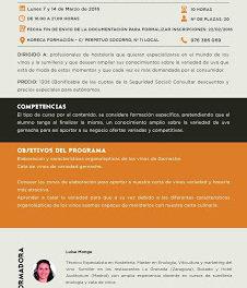 'Master class' Cata de garnachas de Aragón (lunes, 7 y 14 de marzo)