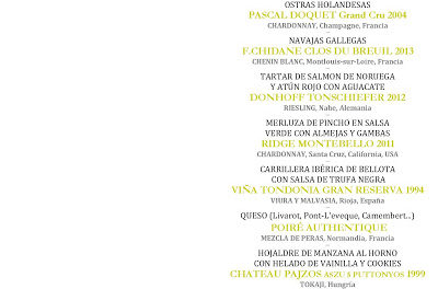 Cata cena maridaje Los mejores blancos del mundo en LOS CABEZUDOS (viernes, 26)