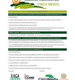 CINCA MEDIO. Semana agraria (del 23 al 25)