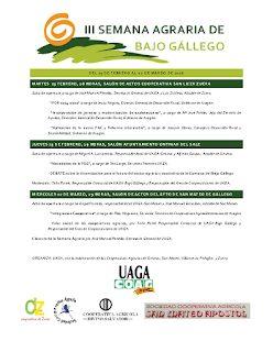 BAJO GÁLLEGO. Semana agraria (del 23 al 2 de marzo)