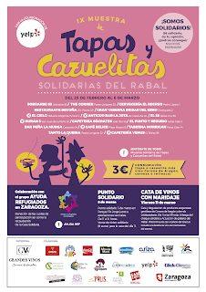 Muestra de tapas y cazuelitas solidarias del Rabal (del 25 de febrero al 6 de marzo)