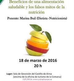 AÍNSA. Charla sobre alimentación (viernes, 18)