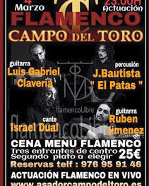 Cena menú flamenco (viernes, 4)