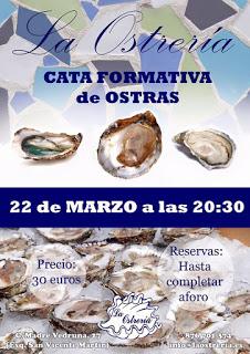Cata formativa de ostras (martes, 22)