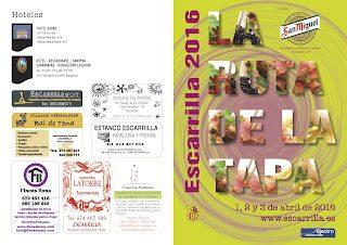 ESCARRILLA. Ruta de la tapa (del 1 al 3 de abril)