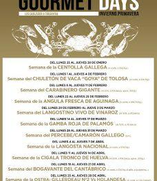 Gourmets Days en LOS CABEZUDOS y TRAGANTÚA, percebe / camarón gallego (del lunes, 28, al jueves, 31)