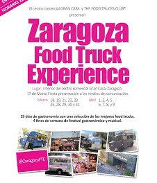 Zaragoza Food Truk Experience (días 18 y 19, 21 al 23, 26, 28 al 31 de marzo, 1 y 2, 4 al 9 de abril)