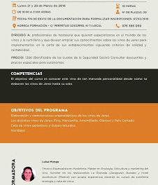 'Master class' Cata de vinos de Jerez (lunes 21 y 28 de marzo)