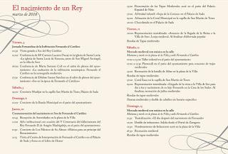 SOS DEL REY CATÓLICO. El nacimiento de un rey (del 10 al 13 de marzo)